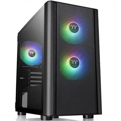 Caja ordenador torre micro atx thermaltake v150 tg argb breeze cristal templado -  ventilador argb: 2x120mm frontal 1x120mm tras