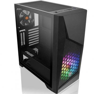 Caja ordenador torre atx thermaltake commander g32 tg argb negro 1 ventilador 200mm+ventilador 120mm incluido -  1xcristal templ