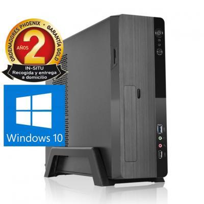 Ordenador de oficina phoenix zity amd ryzen 3 3200g 8gb ddr4 480 gb ssd micro atx slim  pc sobremesa windows 10 home - Imagen 1
