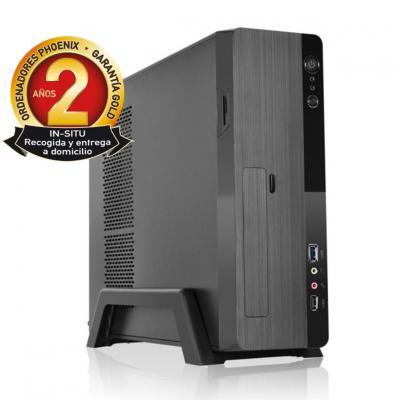 Ordenador de oficina phoenix zity amd ryzen 3 3200g 8gb ddr4 480 gb ssd micro atx slim  pc sobremesa - Imagen 1