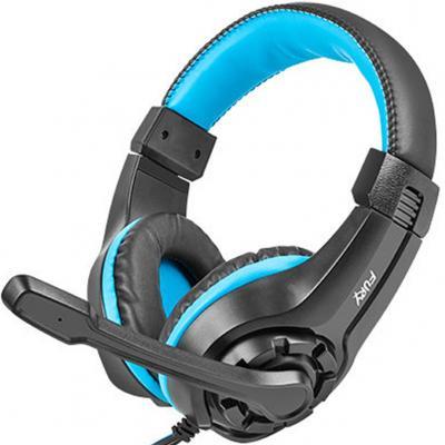 Auriculares gaming fury wildcat negro - azul - Imagen 1