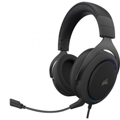 Auriculares gaming corsair hs50 pro stereo negro - azul - Imagen 1