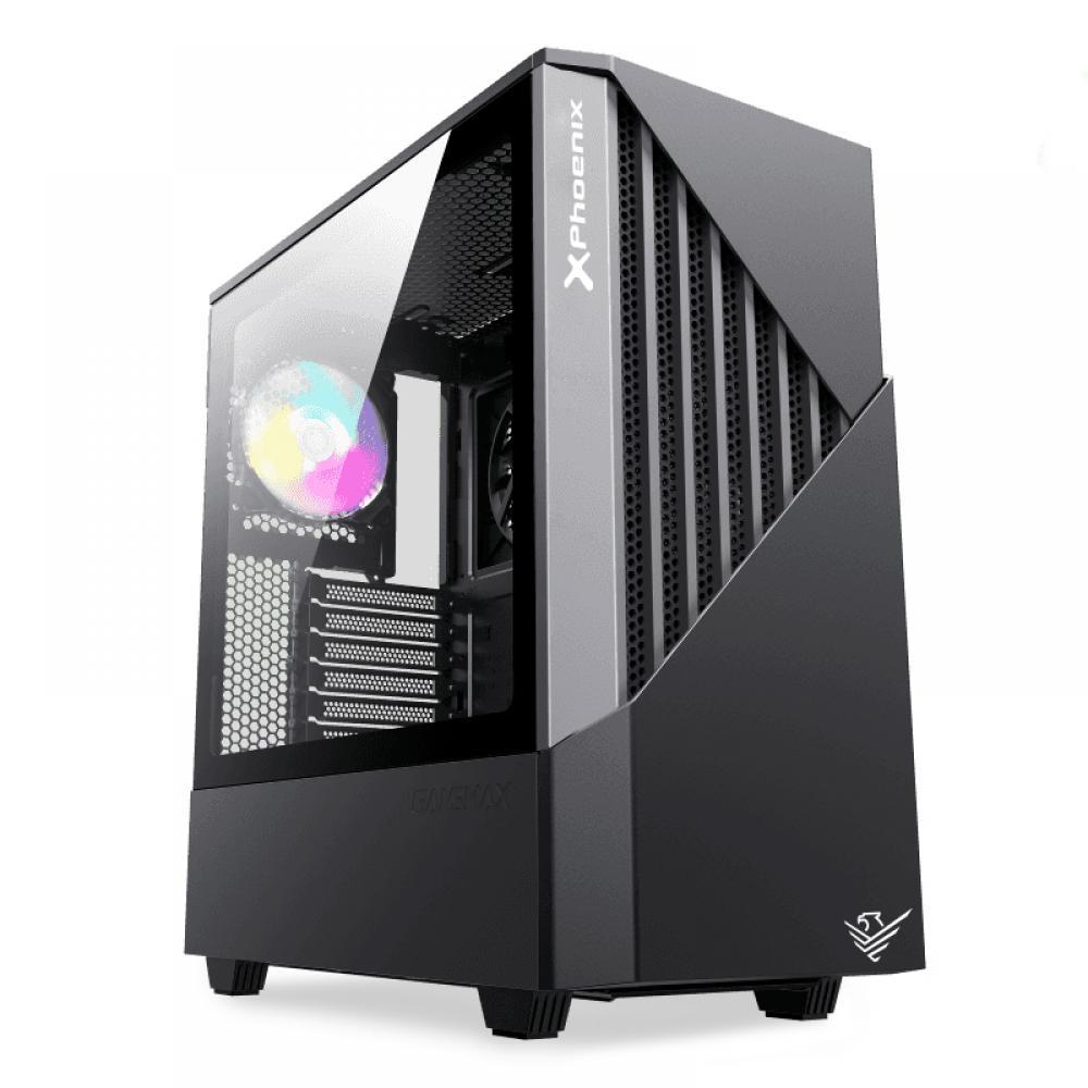 Caja gaming torre phoenix glacier - cristal templado - usb 3.0 - filtros antipolvo - incluye ventilador argb 14cm + 12cm - contr