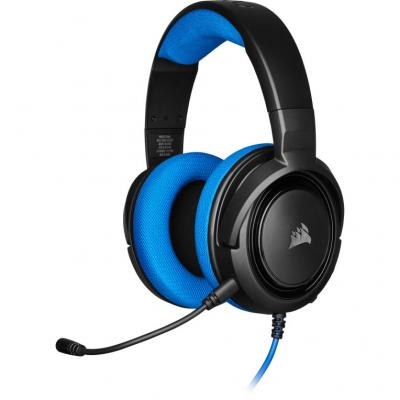Auriculares gaming corsair hs35 stereo azul - Imagen 1