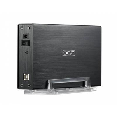 """3Go Carcasa Externa HD 3.5"""" IDE + SATA USB 2.0 - Color Negro - Imagen 1"""