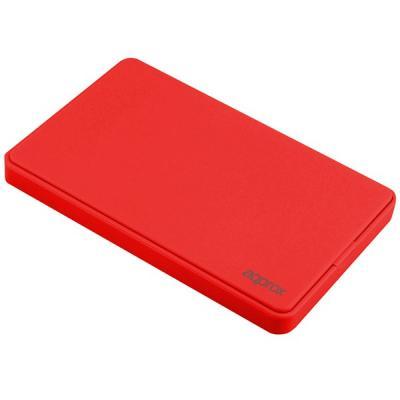 """Approx Carcasa Externa HD 2.5"""" SATA-USB 2.0 - Color Rojo - Imagen 1"""