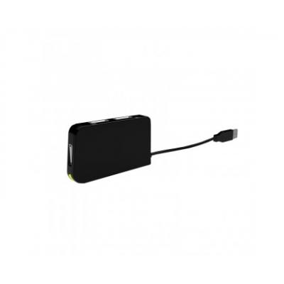 Approx Hub 4 Puertos USB 2.0 - Regulador de voltaje integrado - Velocidad de 480Mbps - Color Negro - Imagen 1