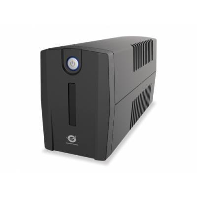 Conceptronic  Zeus 650VA 360W UPS SAI - Bateria de 12V/7Ah - 4 Enchufes IEC - Imagen 1