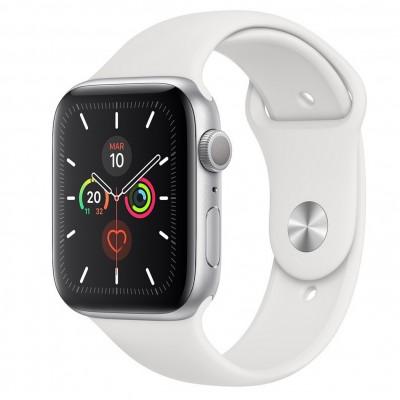 Reloj apple watch series 5 44 mm caja de aluminio con correa deportiva plateado - Imagen 1