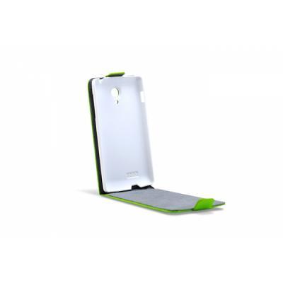 3GO Droxio B45 Funda Flip Cover Vertical Piel Verde - Imagen 1