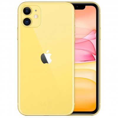 Telefono movil smartphone apple iphone 11 64gb amarillo - 6.1pulgadas - dual sim - Imagen 1