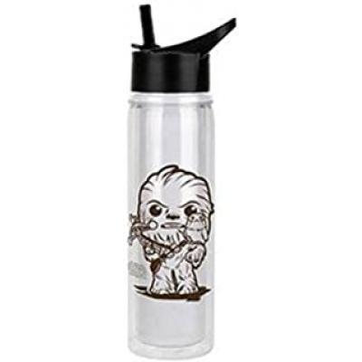 Botella acrilica metalica de agua funko star wars chewbacca & porg 23727 - Imagen 1