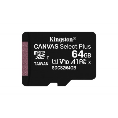 Kingston Technology Canvas Select Plus memoria flash 64 GB MicroSDXC Clase 10 UHS-I - Imagen 1