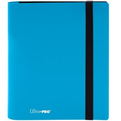 Archivador de bolsillo ultra pro color azul celeste 4 bolsillos - Imagen 1