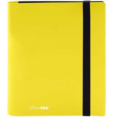 Archivador de bolsillo ultra pro color amarillo limon 4 bolsillos - Imagen 1