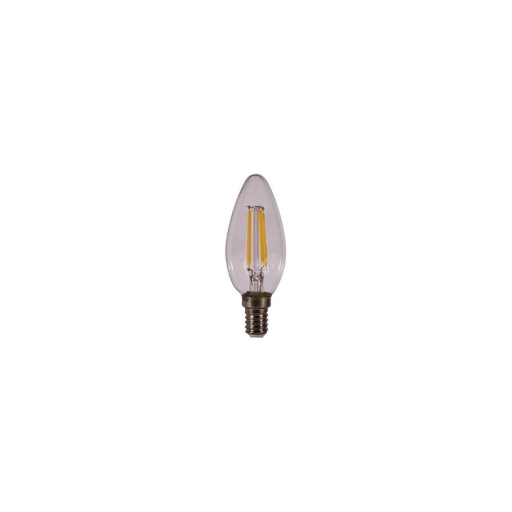 Bombilla led kodak filamento transparente vela c37 -  e14 -  470lm -  calido 3000k -  4w=40w -  no regulable - Imagen 1