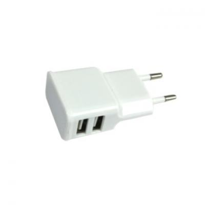 Adaptador cargador de corriente silver ht para ipad y tablet -  2 usb -  10w -  2a -  blanco - Imagen 1