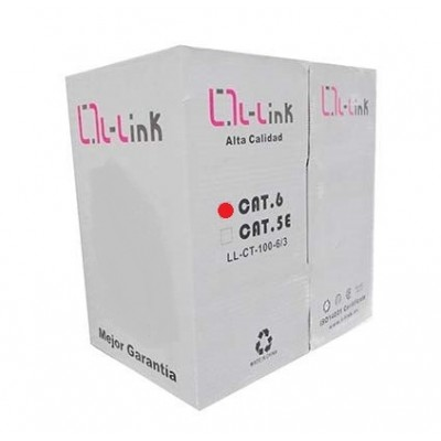 Bobina de cable red l - link ethernet utp 305m cat6 rj45 - Imagen 1