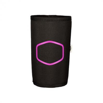 Soporte botellas silla coolermaster negro tela -  logo coolermaster - Imagen 1