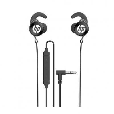 Auricular hp daewoo dhe - 7004 negro microfono jack 3.5mm - Imagen 1