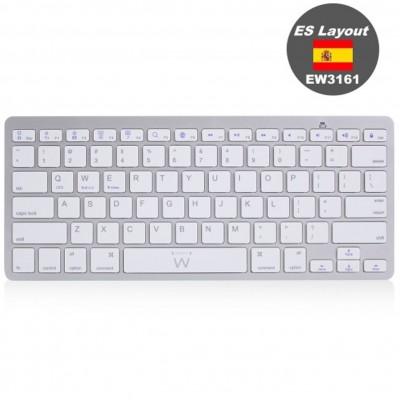 Teclado ultradelgado bluetooth ewent ew3161 para tablet formato españa - Imagen 1