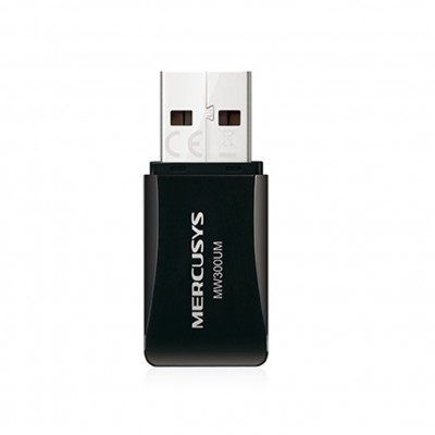 Adaptador wifi usb 2.0 mercusys mw300um 300mbps - Imagen 1
