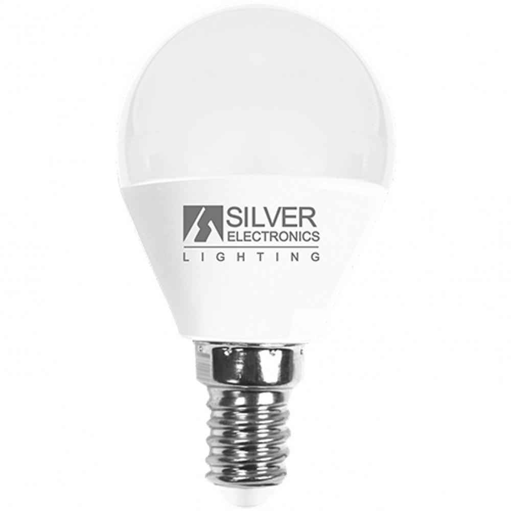 Bombilla led silver electronic esferica 7w=70w -  e14 -  5000k -  620 lm -  luz blanca -  a+ - Imagen 1