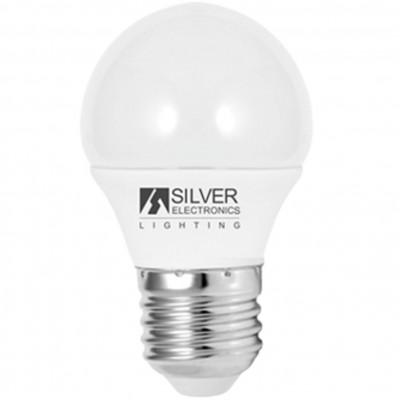 Bombilla led silver electronic eco esferica 5w=35w -  e27 -  6000k -  399 lm -  180º -  luz fria -  a+ - Imagen 1