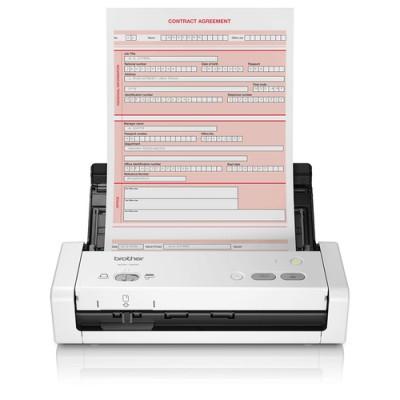 Brother ADS-1200 escaner 600 x 600 DPI Escáner con alimentador automático de documentos (ADF) Negro, Blanco A4 - Imagen 1