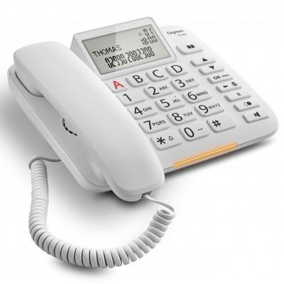 Telefono fijo gigaset dl380 blanco 99 numeros agenda -  10 tonos - Imagen 1