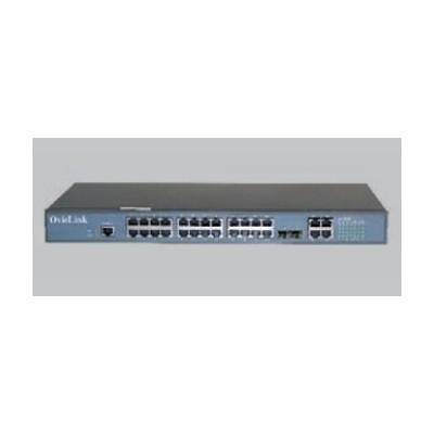 Switch 24 ptos ovislink l2 10 - 100 tx poe +2giga tx +2 combo giga tx - sf - Imagen 1