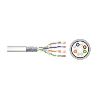Cable de red ewent ew - mat - 5f - r - 305 - s cat 5e f - utp awg24 - 1 cca 305mt rigido - Imagen 1