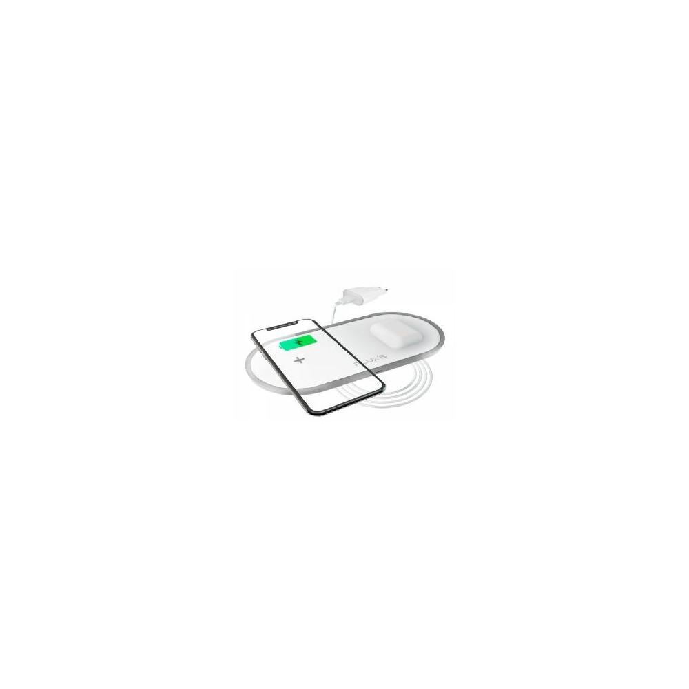 Cargador inalambrico dual flux´s carga rapida 5w - 7.5w - 10w - Imagen 1