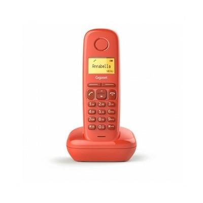 Telefono fijo inalambrico gigaset a170 rojo 50 numeros agenda -  10 tonos - Imagen 1