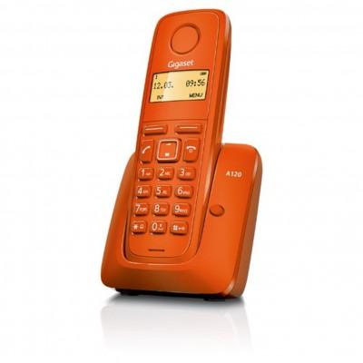 Telefono fijo inalambrico gigaset a120 naranja 50 numeros agenda -  10 tonos - Imagen 1