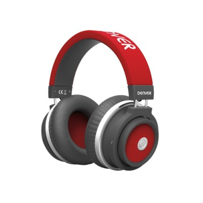 Denver BTH-250 RED Auriculares Diadema Negro, Rojo - Imagen 1