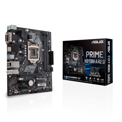 ASUS PRIME H310M-A R2.0 placa base LGA 1151 (Zócalo H4) Micro ATX Intel® H310 - Imagen 1