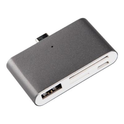 SilverHT Adaptador Type C 2 en 1 Dark Grey (USB/SD/TC) - Imagen 1