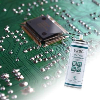 Ewent EW5614 kit de limpieza para computadora Espray para limpieza de equipos Pantallas / Plásticos, Universal 200 ml - Imagen 1