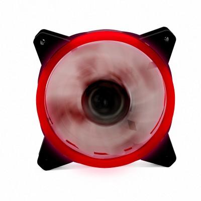 Ventilador phoenix led rojo gaming 120mm doble anillo - Imagen 1