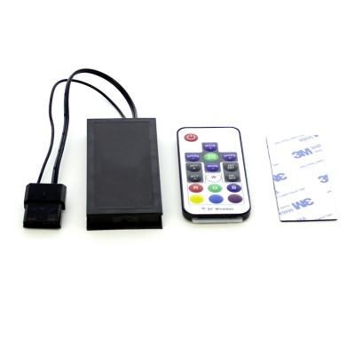 Controladora rgb para ventilador gaming phoenix + control remoto - hasta 8 ventiladores - hasta 2 tiras led - negro - Imagen 1