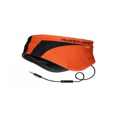 Cinta diadema sbs para correr con auriculares naranja - Imagen 1