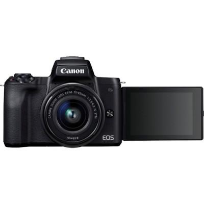 Canon EOS M50 + EF-M 15-45mm IS STM MILC 24,1 MP CMOS 6000 x 4000 Pixeles Negro - Imagen 2