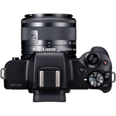 Canon EOS M50 + EF-M 15-45mm IS STM MILC 24,1 MP CMOS 6000 x 4000 Pixeles Negro - Imagen 3