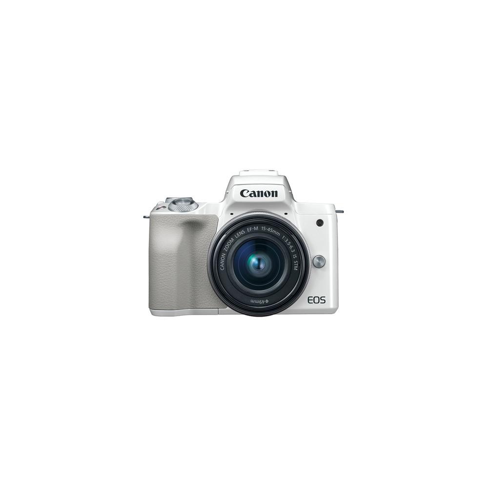 Canon EOS M50 + EF-M 15-45mm STM MILC 24,1 MP CMOS 6000 x 4000 Pixeles Blanco - Imagen 1