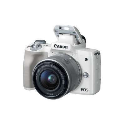 Canon EOS M50 + EF-M 15-45mm STM MILC 24,1 MP CMOS 6000 x 4000 Pixeles Blanco - Imagen 2