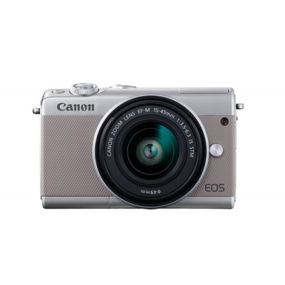 Canon EOS M100 + EF-M 15-45mm IS STM MILC 24,2 MP CMOS 6000 x 4000 Pixeles Gris - Imagen 1