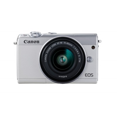 Canon EOS M100 + EF-M 15-45mm IS STM MILC 24,2 MP CMOS 6000 x 4000 Pixeles Blanco - Imagen 1