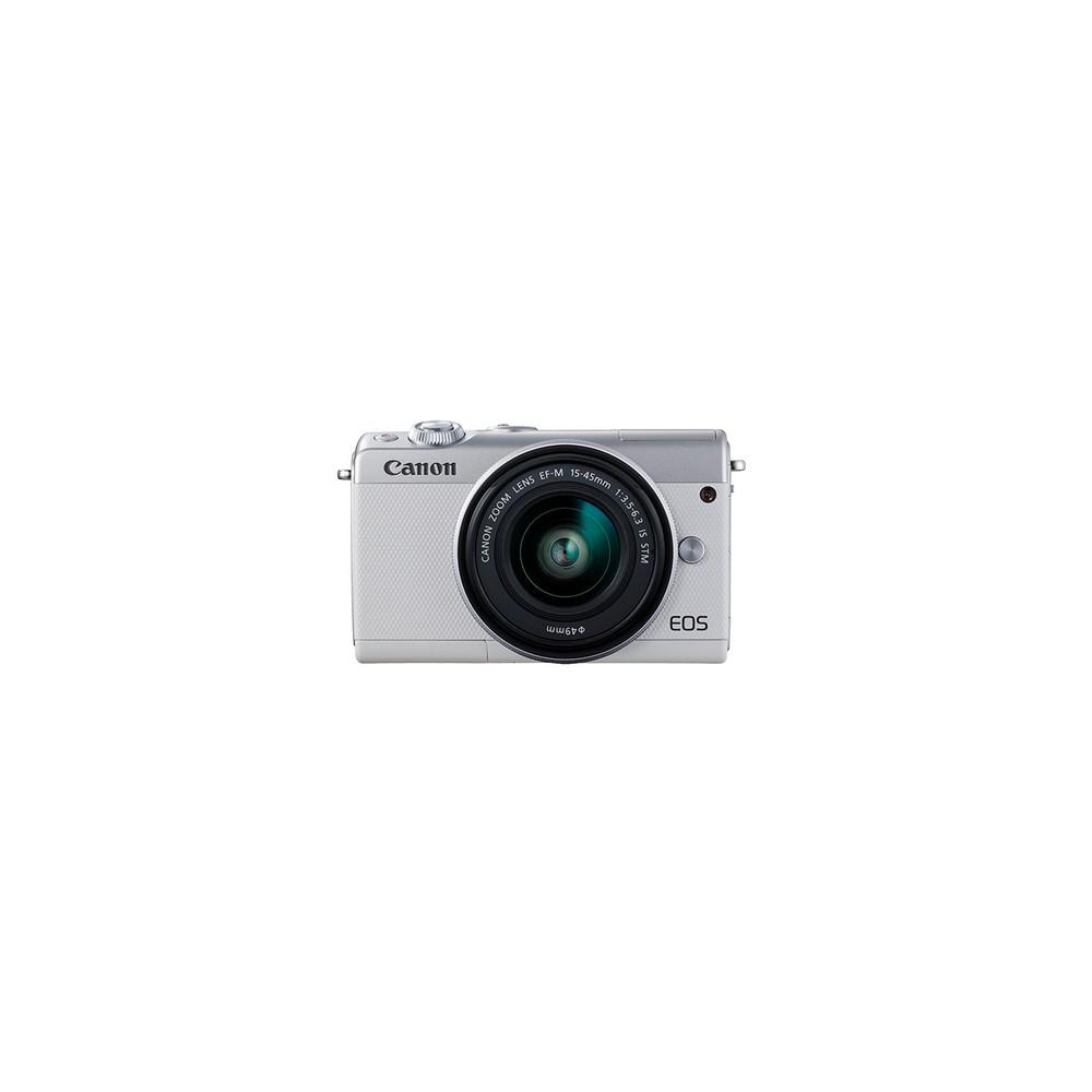 Canon EOS M100 + EF-M 15-45mm IS STM MILC 24,2 MP CMOS 6000 x 4000 Pixeles Blanco - Imagen 1