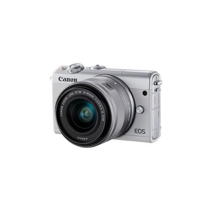 Canon EOS M100 + EF-M 15-45mm IS STM MILC 24,2 MP CMOS 6000 x 4000 Pixeles Blanco - Imagen 2